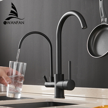 Filter Kitchen Faucets Deck Mounted Mixer Tap 360 Rotation with Water Purification Feature