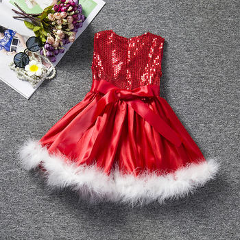 Baby Girl Fashion Christmas Red White Dress 1