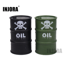 INJORA Military Plastic Oil Drum Tool for 1/10 RC Rock Crawler Axial SCX10 90047 TAMIYA CC01 RC4WD D90 D110 TF2 Traxxas TRX4