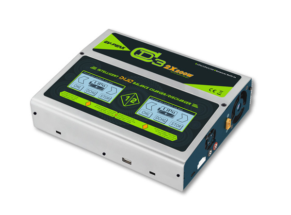 EV-PEAK CD3 2x200W 110V / 220V Lipo Battery Balance Charger for FPV RC Multicopter / Airpalne padovan корм padovan granpatee universelle для насекомоядных птиц комплексный универсальный 1 кг
