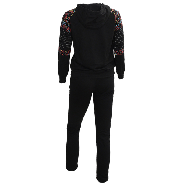 2PCS Women Jacket Sweat Pants Suit Sexy Set Track Suit Hoodies 2