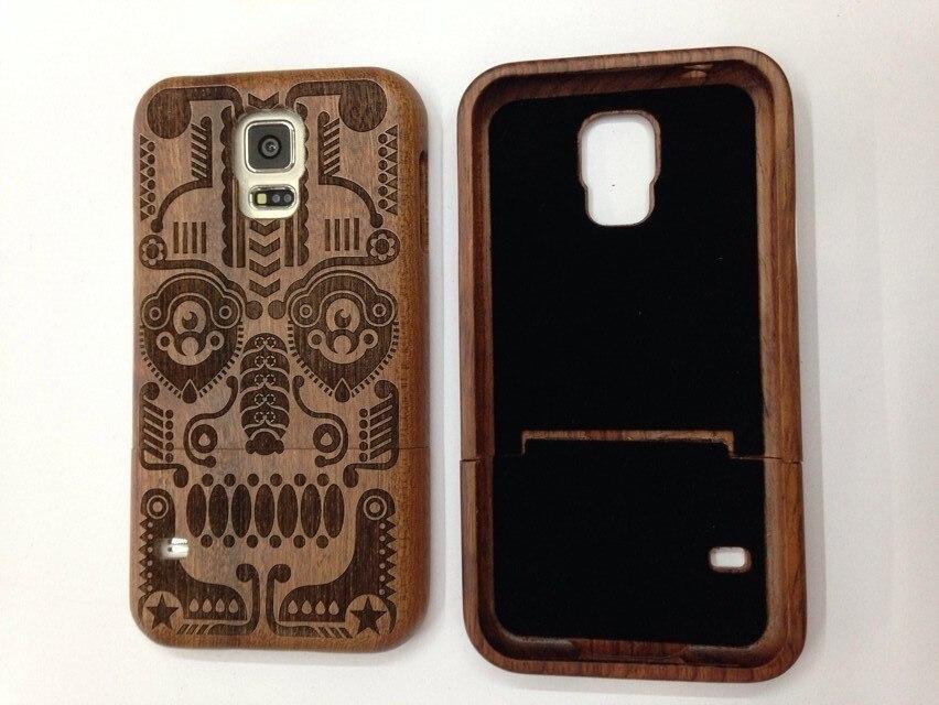 Preço de atacado de Madeira PC caixa do telefone móvel para Samsung galaxy i9600 S5 caso de madeira para venda