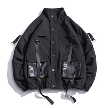 2020 Men Military Jacket Coats Casual Windbreaker Ribbons Pockets Men's Overalls