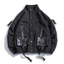 2020 Men Military Jacket Coats Casual Windbreaker Ribbons Po