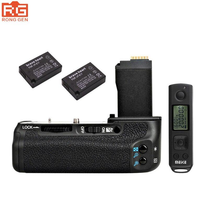 bilder für MEIKE MK-760D Vertikale Batteriegriff für Canon 760D 750D DSLR Kamera mit LCD Drahtlose Fernauslöser + 2x LP-E17 batterie