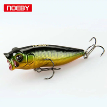 Noeby 1pcs 45mm 55mm 65mm Topwater Popper Floating Poper Lure Hooks Crank Baits FishingTackle Tool