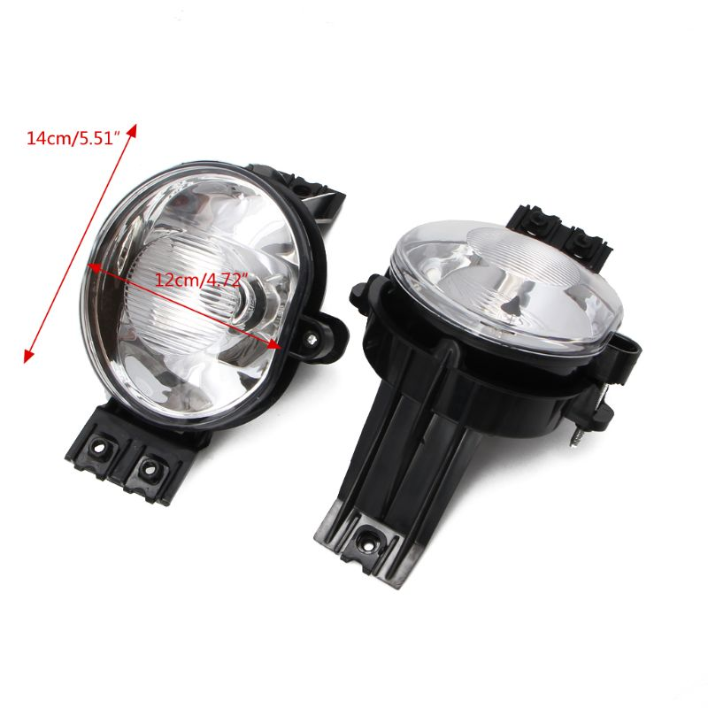 1Pair Clear Fog Lights Driving Bumper Lamps For Dodge Ram 1500 2500 3500 2002-2008 Pickup Automobiles Light Assembly