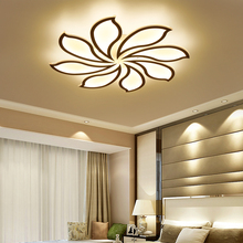 LICAN Surface mounted modern led ceiling chandelier lights for living study room bedroom led chandelier lamp fixtures lampshade