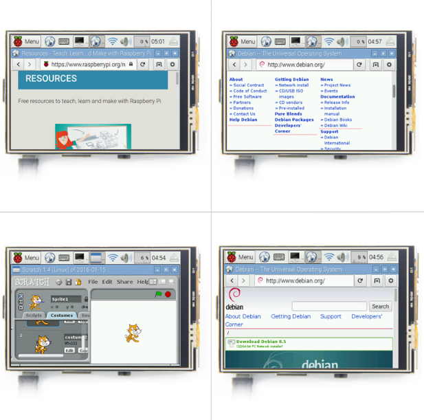 Monitor de pantalla táctil TFT LCD de 3,5 pulgadas para Raspberry Pi 3 2 Modelo B Raspberry Pi 1 Modelo B 480x320 píxeles RGB