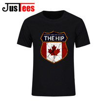 Vintage Mens The HIP Tragically Canada Since 1984 Brand Clothing Man's Short Sleeved Slim T Shirts Male Wear Plus Size Tops Tees