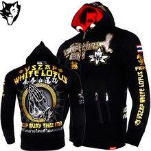 VSZAP теплые зимние Тигр бокс футболка с капюшоном костюмы ММА костюмы дышащий хлопок бой Муай Тай Kickboxi тренажерный зал Boxeo