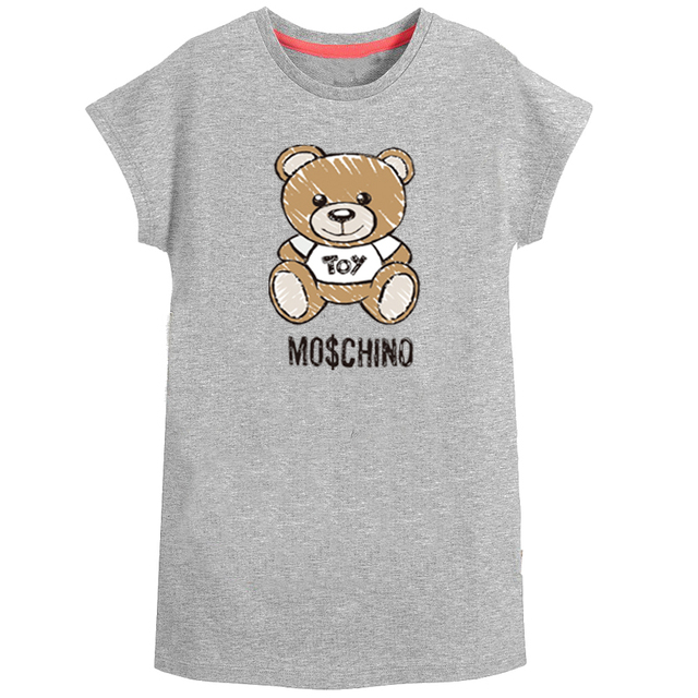 2019 Kids Dresses For Girls Summer Unicorn Dress Cotton Bear Print Toddler Princess Vestidos Costume Baby Girls Dress Clothes