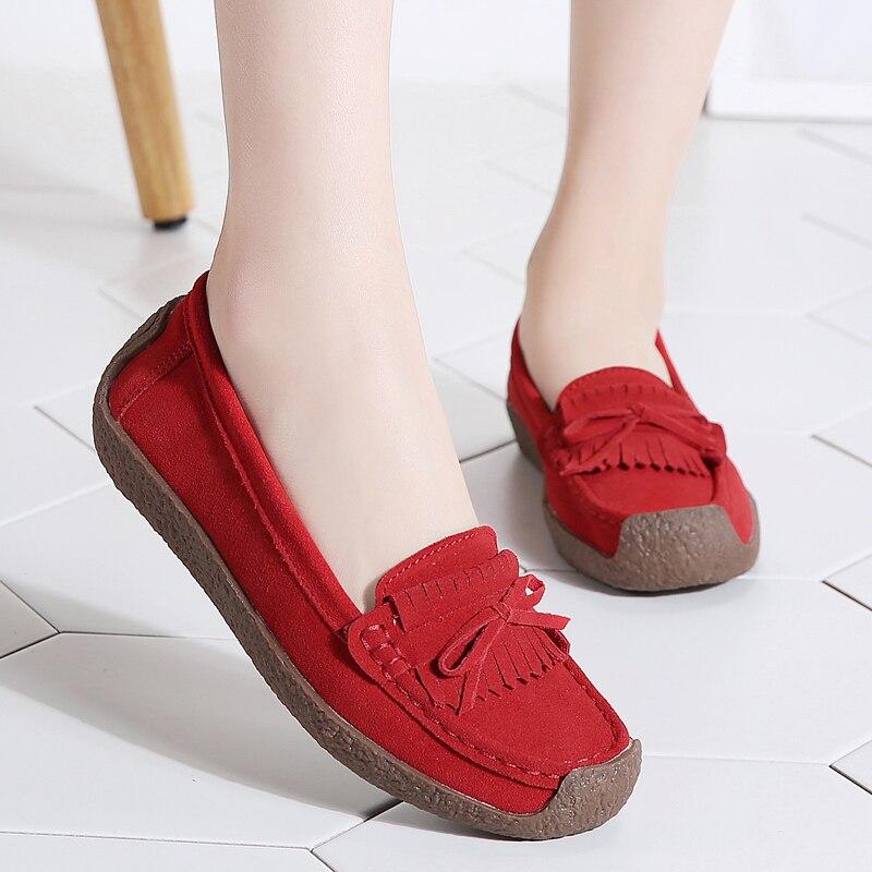 Image 5 - Женские замшевые лоферы; женские слипоны; x27s; x2don; Высококачественная удобная обувь; женские кроссовки на плоской подошве; Schoenen VrouwОбувь без каблука   -