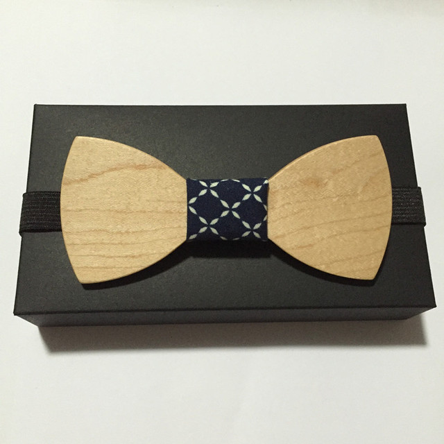 Butterfly Solid Wood Bow Tie