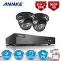 ANNKE 4CH HD-TVI 1080P Lite CCTV Security System DVR and (2) 960P Outdoor Fixed Weatherproof Video Surveillance Cameras kit
