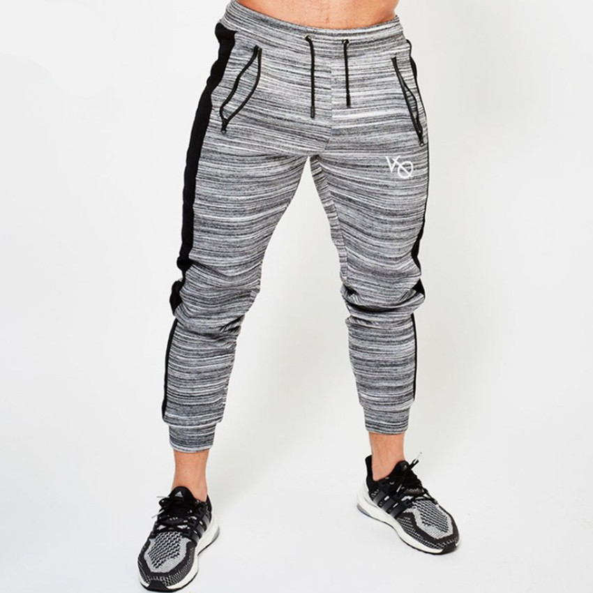 2018 New High Quality Jogger Pants Men Fitness Bodybuilding Gyms Pants For Runners Brand Clothing Autumn Sweat Trousers Britches