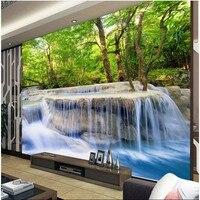 Custom Wallpapers Non Woven Waterfalls Water Health Bedroom Bedroom Wallpaper Backdrop Environmental Wallpaper