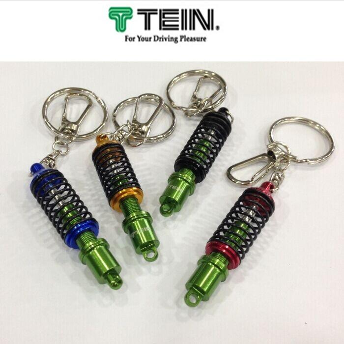 TEIN Damper Keychain Coilver Shock Adjustable JDM Genuine hellaflush Auto keyring One Piece Key Chain Car Zinc Alloy Accessories
