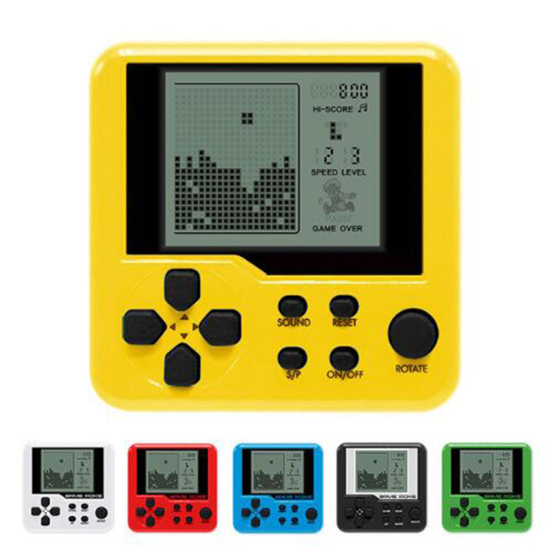 Tetris Game Children Handheld Game Console Electronic Pets Toys Educational Electronic Toys Portable Built-in 23 Games