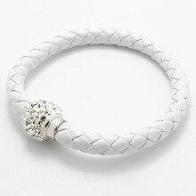 LNRRABC ручной работы магнитный кристалл с веревкой, на цепочке, с подвесками женские браслеты мужские кожаные пряжки браслет стразы ювелирные изделия