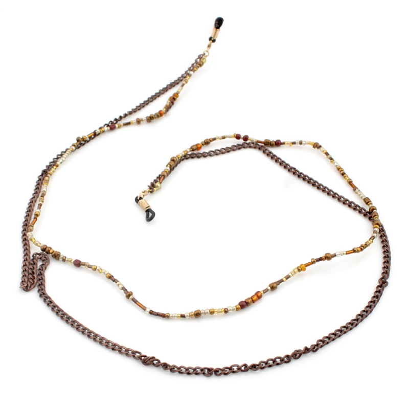Sanft 70 Cm Lesebrille Kette Perlen Sonnenbrille Halter Mode Neck Strap Metall Seil Lanyard Senility VerzöGern Accessoires Bekleidung Zubehör