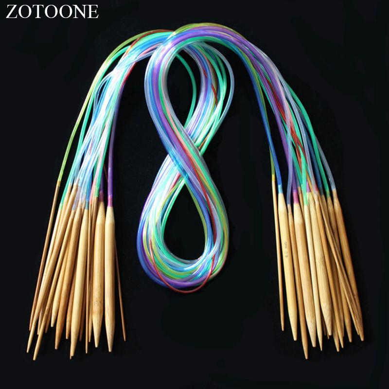 ZOTOONE Multicolor Tube 18size/set Circular Crochet Knitting Needles Sewing Accessories Needlework Craft Knitting Tools Stitch D