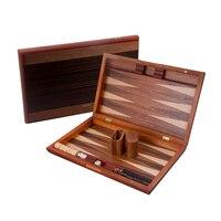 Novel 15 Inch Wooden Backgammon Set Traveling Toys Large Folding Portable Delicate Lace Texture Box Fashion