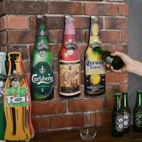 Amerikanischen Eroupean Vintage Stil Bier Geformt Wand Flasche Opener Wand Montiert Flasche Öffner Wand Montiert Holz Plaques Cap Catcher