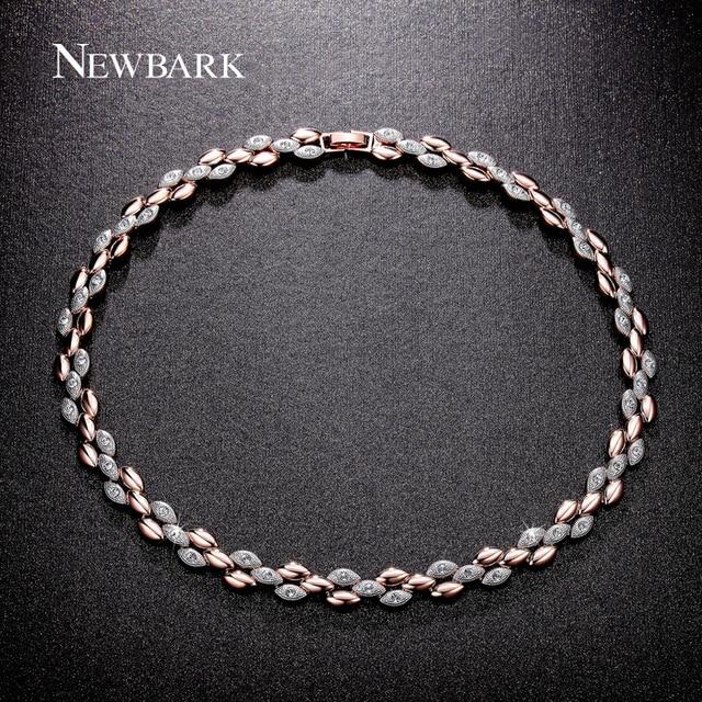 NEWBARK Brand Hot New Fashion Necklace Choker Chain Statement Necklace Luxury Shining Charm Crystal Necklaces & Pendants