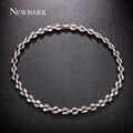 Newbark marca caliente nueva moda collar choker collar llamativo cadena shining charm collares y colgantes de cristal de lujo