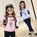 3-14 Years 2017 New Arrival Cartoon Printed Baby Girl T-shirt Big Girls Tees Shirts Children Big Sale Cotton Kids Spring Clothes