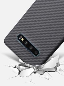 Image 5 - ENMOV Ultra דק 100% אמיתי סיבי פחמן מקרה לסמסונג גלקסי S10 S10Plus S9 S9 בתוספת עסקים מט יוקרה כיסוי עבור Note9