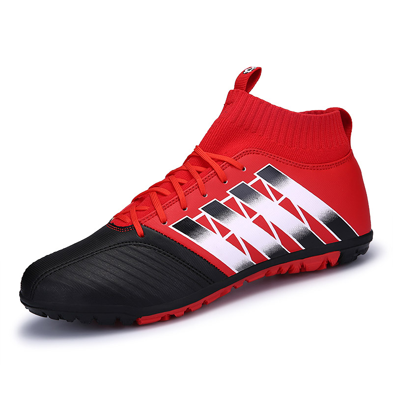 Professional Men Superfly Original Soccer Shoes High Ankle Football Boots Indoor Turf Soccer Cleats Man Training Futsal Sneakers(China)