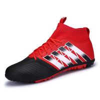 Professional Men Superfly Original Soccer Shoes High Ankle Football Boots Indoor Turf Soccer Cleats Man Training Futsal Sneakers