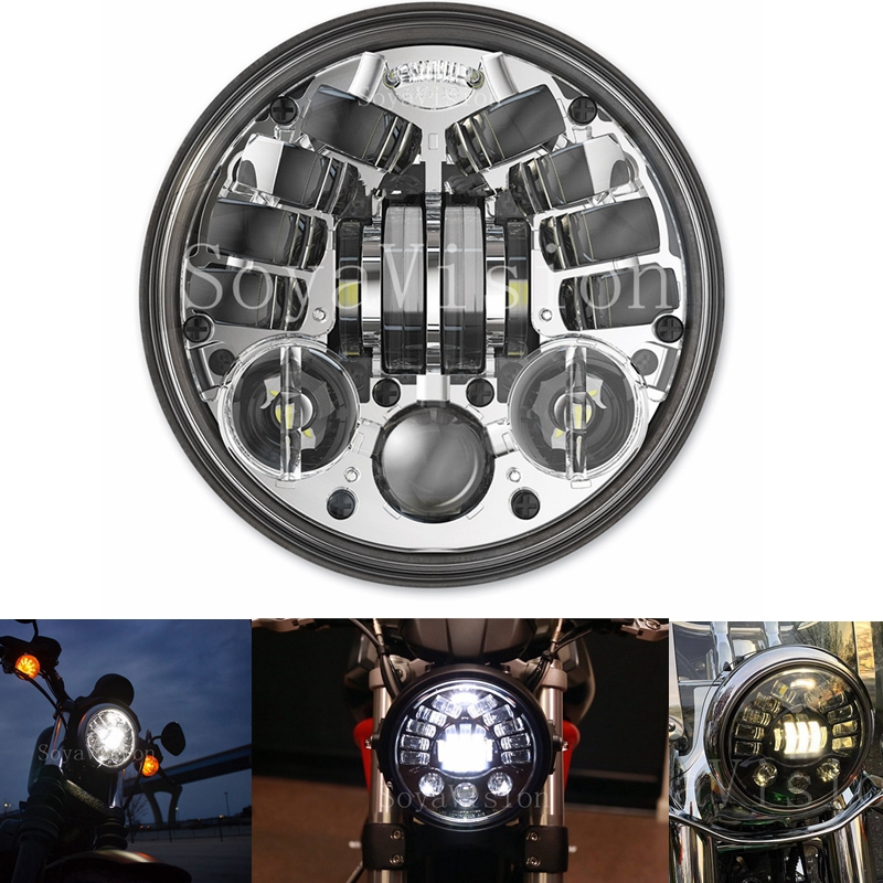 "Harley Dyna Street Bob >> 5 3/4""Left AND right Turn signal Motorcycle Projector 50W ..."