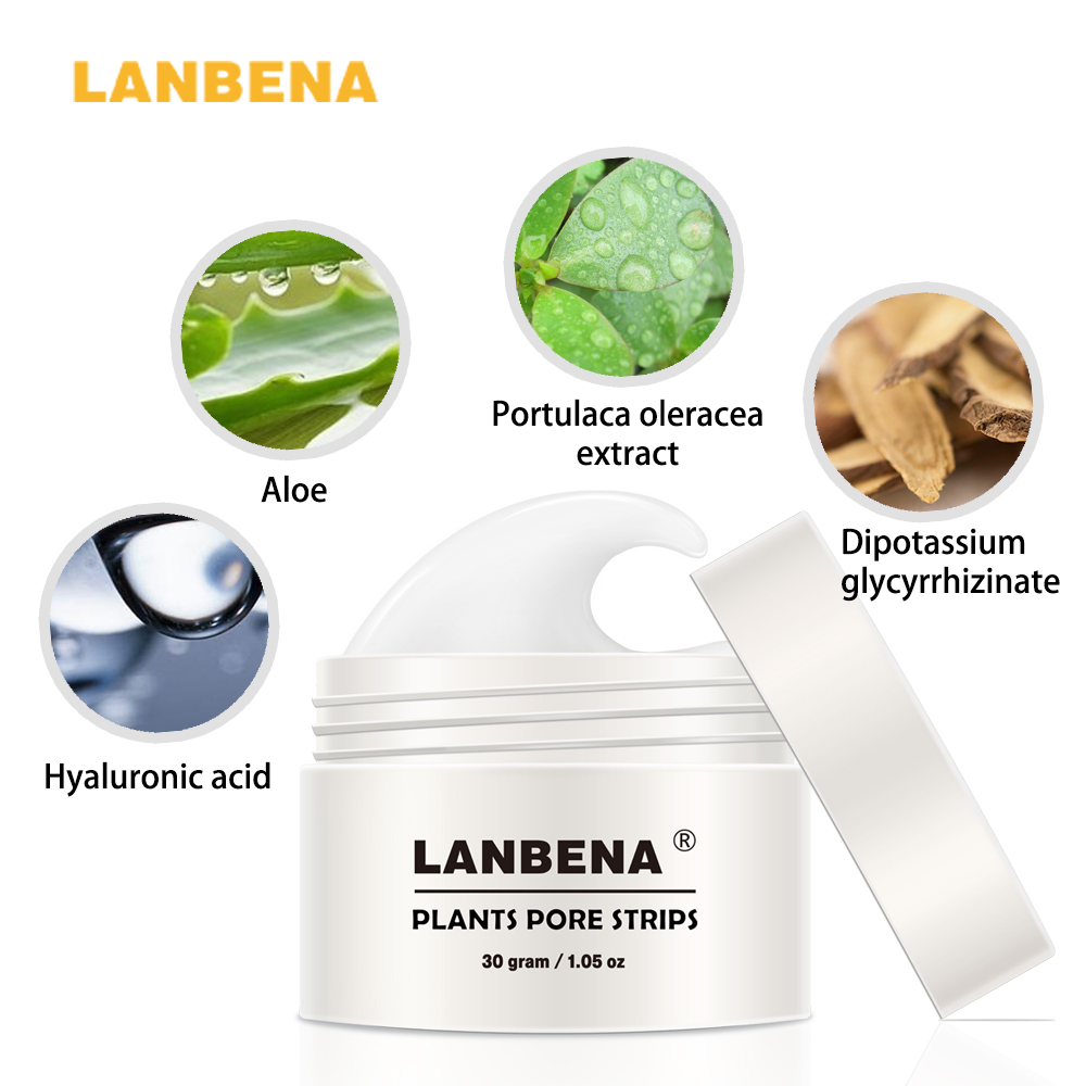 New Style LANBENA Blackhead Remover Nose Mask Pore Strip Black Mask Peeling Acne Treatment Black Deep Cleansing Skin Care