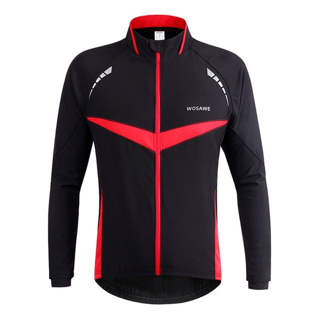 e8474ebe4 US $33.44 41% OFF|WOSAWE Winter Autumn Windproof Bicycle jacket Long Sleeve  Bike Jersey Clothing Wear Reflective Running Cycling Jackets-in Cycling ...