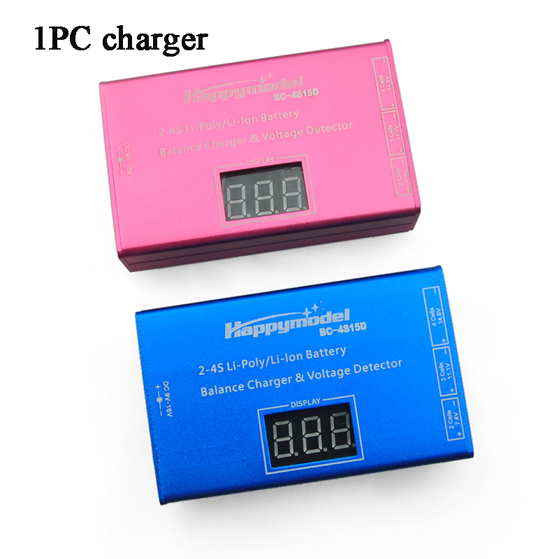 2S 3S 4S Lipo Charger Battery Charging Port Balance Charger w/Battery Displayer Adapter Voltage Detector Meter For RC FPV Drone