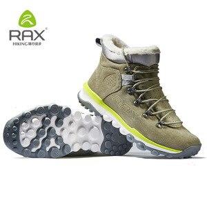 Image 4 - RAX hommes bottes de randonnée en cuir véritable chaussures hiver randonnée bottes pour hommes en plein air chaud randonnée chaussures baskets chaussures de marche homme