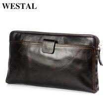 WESTAL Wallet Male Genuine Leather Men's Wallets for Credit Card Holder
