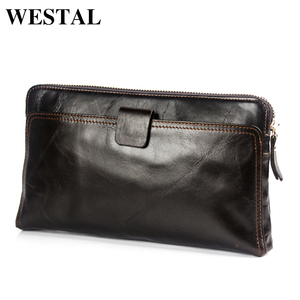 WESTAL Wallet Male Genuine Lea