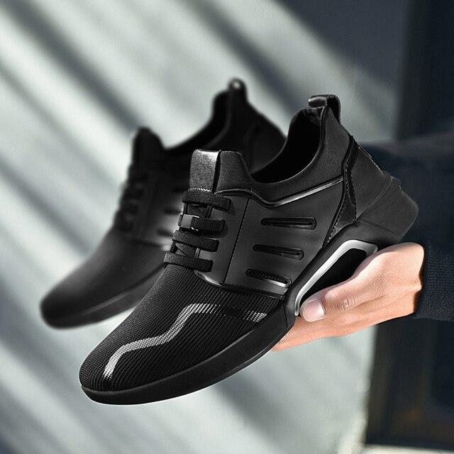 cf468f7cdb Venda quente Homens Sapatos Leves Tênis Respirável Slip-on Sapatos Casuais  Para Adulto Moda Calçado