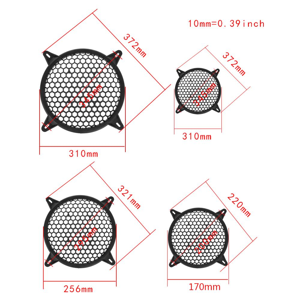 """Image 5 - Universal Subwoofer Grill Grille Guard Protector Cover 6"""" 8"""" 10"""" 12"""" Sub Woofer Car Home Audio Speaker Video-in Speaker Accessories from Consumer Electronics"""