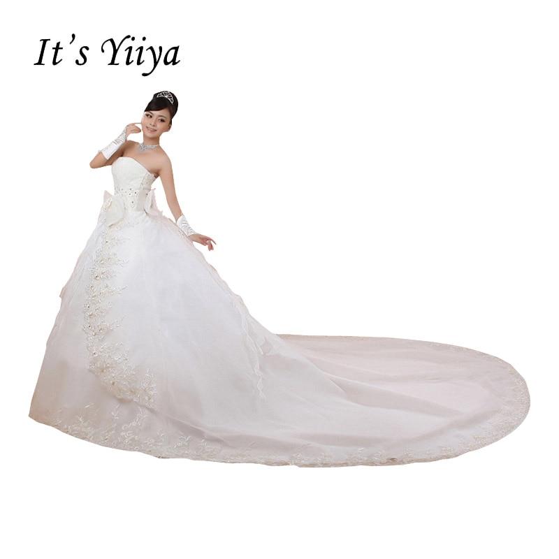 Бесплатная доставка свадебное платье Лидер продаж 2016 года сладкий ангел Летний стиль хвост невесты Платья для женщин корейский стиль сваде...