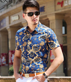 man shirt male shirts for wedding formal party prom print flower fashion boy singer dancer groom bar show