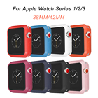 <+>  Продажи Устойчивость к падению Мягкий силиконовый чехол Apple Watch серии iWatch 1234 Рамка крышки П ①
