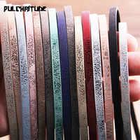 1 wurzel 1 Meter x 5mm Flache PU Lederband & Seil Diy Schmuck Erkenntnisse Zubehör Mode Schmuck Machen material für Armband