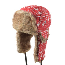 85273ffa Winter Trooper Trapper Hunting Faux Fur Hat Ear Flaps Aviator Hot Sale Snow  Cap Bomber Hats Ushanka Russian ...