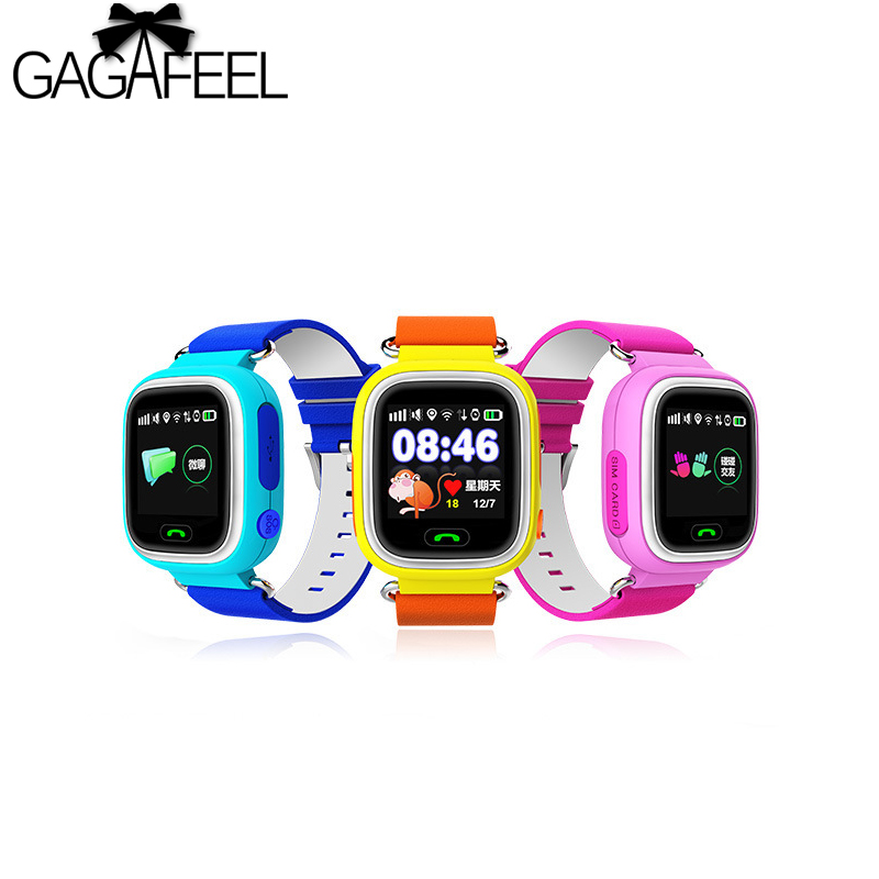 2018 New Arrival Q90 GPS Phone Positioning Fashion Children Watch 1.22 Inch Color Touch Screen WIFI SOS Smart Watch