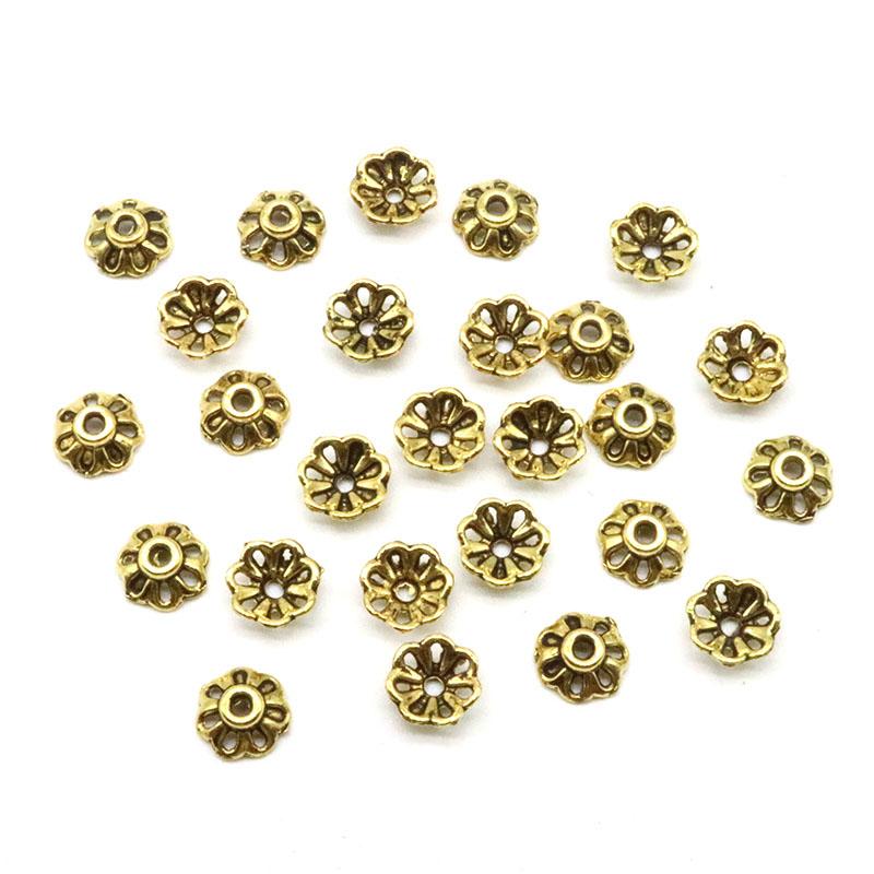 200pcs/lot 8mm Wholesale Price Petal Bead Caps Gold Silver Bronze Color Flower Beads Zin ...